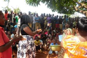 The Water Project: Mutao Community, Shimenga Spring -  Handwashing Training