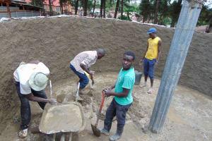 The Water Project: Musasa Secondary School -  Inside Rain Tank Base
