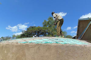 The Water Project: Ibwali Primary School -  Weaving Rebar