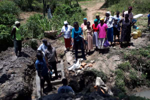 The Water Project: Malava Community, Ndevera Spring -  Spring Care Training