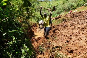 The Water Project: Mutao Community, Shimenga Spring -  Excavation