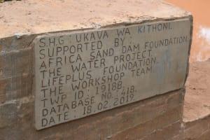 The Water Project: Kithoni Community -  Asdf_ukava Wa Kithoni Shg_sd Plaques