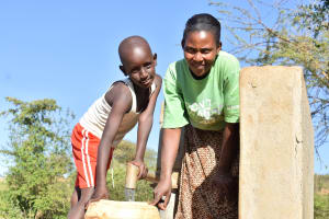 The Water Project: Katung'uli Community B -  Fetching Water