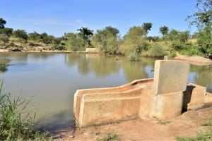 The Water Project: Katung'uli Community B -  Well And Dam A Year Later