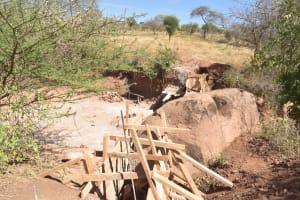 The Water Project: Kithoni Community -  Dam Construction Phase Three
