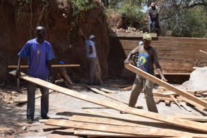 The Water Project: Kithoni Community -  Dam Construction Phase Two