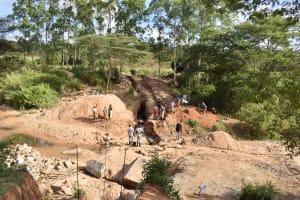 The Water Project: Muluti Community -  Dam Construction