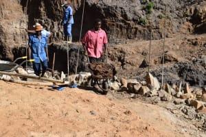 The Water Project: Ivumbu Community -  Workign On Dam