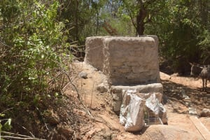 The Water Project: Kathamba Ngii Community A -  Well Construction