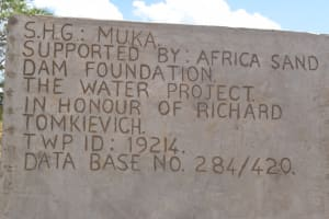 The Water Project: Muluti Community A -  Plaque