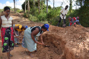 The Water Project: Muluti Community A -  Well Construction
