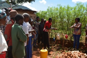 The Water Project: Ivumbu Community A -  Tippy Tap Training