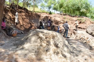 The Water Project: Ivumbu Community A -  Well Construction