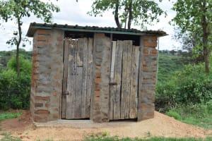 The Water Project: Kaketi Community A -  Latrine And Bathing Shelter