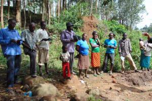 The Water Project: Eshiasuli Community, Eshiasuli Spring -  Training Begins