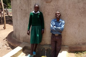 The Water Project: Esibeye Primary School -  Angela Anjao And Peter Oluchiri