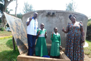 The Water Project: Erusui Girls Primary School -  Thumbs Up For Running Water