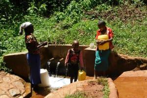 The Water Project: Shilakaya Community, Shanamwevo Spring -  Gushing Water