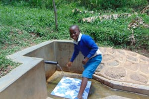 The Water Project: Ivulugulu Community, Ishangwela Spring -  Lewi Anjawa