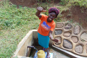 The Water Project: Musango Community, Ham Mwenje Spring -  Violet Seth