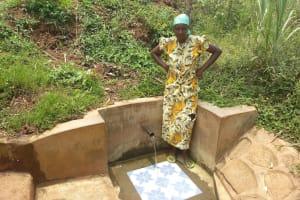 The Water Project: Sharambatsa Community, Mihako Spring -  Esther Luvale