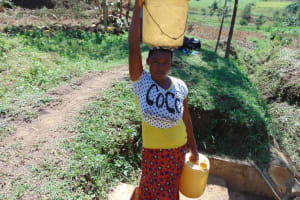 The Water Project: Esembe Community, Chera Spring -  Linet Ababu