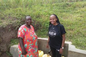 The Water Project: Futsi Fuvili Community, Simeon Shimaka Spring -  Jacklyne Shamaka And Georgina