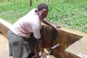 The Water Project: Elukuto Community, Isa Spring -  Sabina Nawire