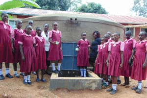 The Water Project: Kitumba Primary School -  Rain Tank Complete