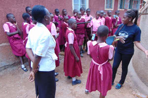 The Water Project: Kitumba Primary School -  Tank Management Training