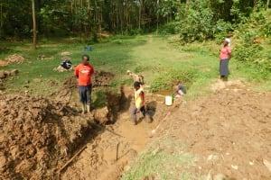 The Water Project: Wajumba Community, Wajumba Spring -  Excavation