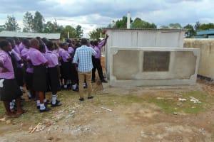 The Water Project: Namanja Secondary School -  Latrine Care Training