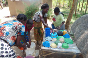 The Water Project: Musango Community, Emufutu Spring -  Learning About The Importance Of A Dish Rack
