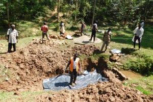 The Water Project: Wajumba Community, Wajumba Spring -  Casting Slab