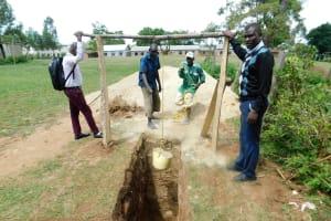 The Water Project: Ebutenje Primary School -  Digging Latrine Pit