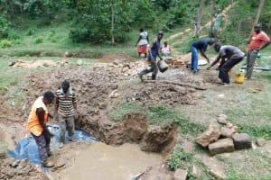 The Water Project: Wajumba Community, Wajumba Spring -  Casting The Slab
