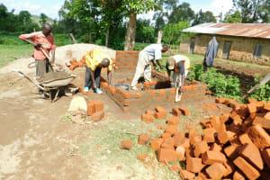 The Water Project: Ebutenje Primary School -  Latrine Construction