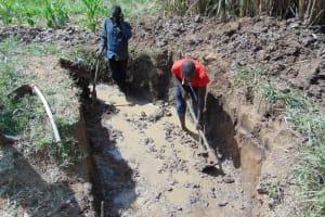 The Water Project: Burachu B Community, Namukhuvichi Spring -  Excavation