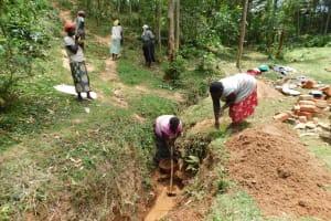 The Water Project: Wajumba Community, Wajumba Spring -  Digging Drainage