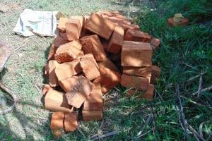 The Water Project: Burachu B Community, Namukhuvichi Spring -  Bricks For Construction