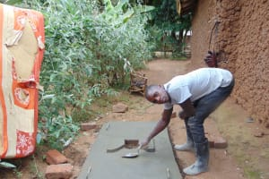 The Water Project: Musango Community, Emufutu Spring -  Finishing Touches On The Platform