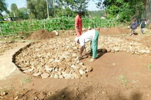 The Water Project: Ebutenje Primary School -  Packing The Tank Foundation