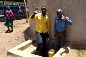 The Water Project: Esibeye Primary School -  Field Officer Erick And Peter