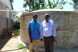 The Water Project: Imuliru Primary School -  Field Officer Ian With Mr Lwangu