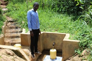The Water Project: Itukhula Community, Lipala Spring -  Kevin At The Spring