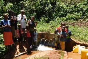 The Water Project: Shilakaya Community, Shanamwevo Spring -  Amazing Discharge