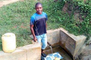 The Water Project: Ataku Community, Ataku Spring -  Charle Okute