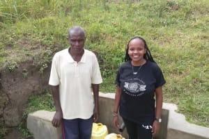 The Water Project: Futsi Fuvili Community, Simeon Shimaka Spring -  Simeon Otundu And Georgina