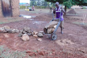 The Water Project: Namanja Secondary School -  Rocks To Be Used In Tank Construction