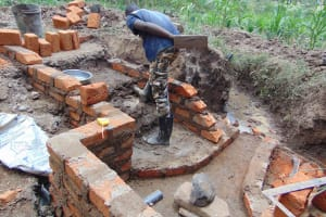 The Water Project: Burachu B Community, Namukhuvichi Spring -  Building The Stairs